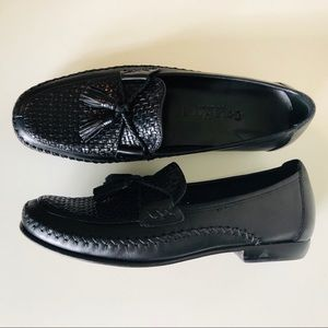 [Cole Haan] Country Woven Tassel Leather Loafers